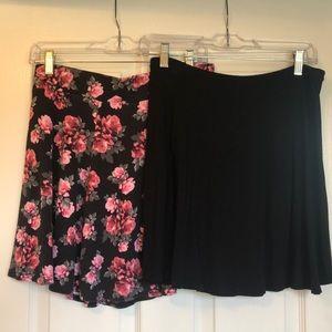 2 short skirts